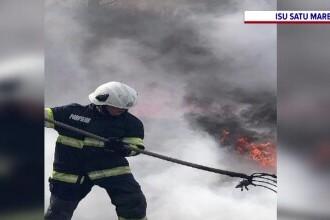 Dezastrul provocat de o țigară aruncată la întâmplare. Un întreg depozit din Satu Mare a fost mistuit de flăcări
