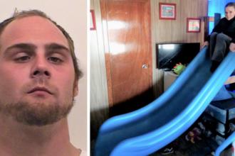 Un bărbat a furat un tobogan de 200 de kilograme dintr-un loc de joacă. Ce a făcut cu el