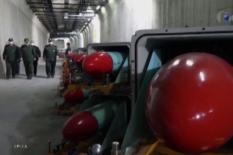 """VIDEO. Cum arată noul """"oraș al rachetelor"""" din Iran. Locația sa este strict secretă"""