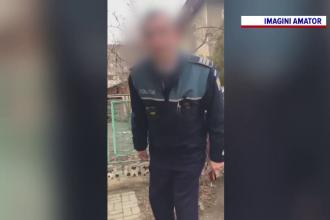Poliţist din Vaslui, destituit deja de 2 ori, filmat când strigă la un şofer.