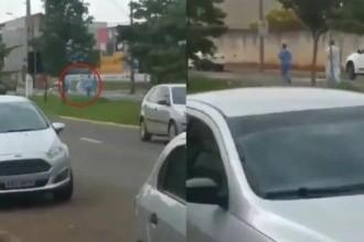 VIDEO. Un brazilian a fugit din spital, cu medicii pe urmele sale. Se temea că va fi intubat