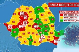 Situația COVID-19 în România: Tot mai multe orașe intră în scenariul roșu, iar secțiile ATI sunt pline de pacienți