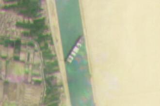 FOTO. Traseul bizar al navei care a rămas blocată în canalul Suez. Ce s-a văzut pe GPS