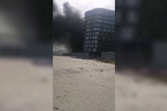 Incendiu puternic în nordul stațiunii Mamaia. De la ce a pornit focul
