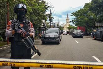 Atac sinucigaș cu bombă în apropierea unei catedrale din Indonezia. 14 răniți