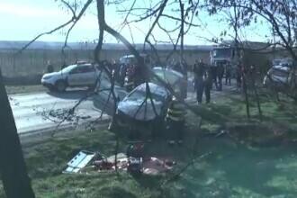 Grav accident în Dâmbovița, produs de un șofer de 75 de ani. Două persoane au murit