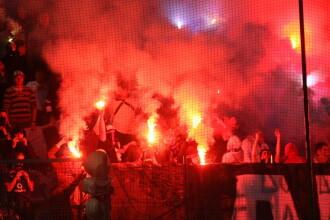 Razboi intre suporteri inaintea meciului Dinamo-Rapid