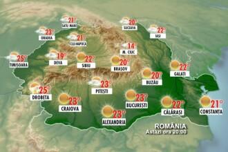 Vezi aici cum este vremea in Romania din ora-n ora!