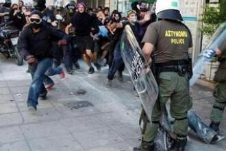 Atena: confruntari violente intre politie si protestatari!