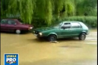 Inundatie pe strazile Sighisoarei din cauza ploii!