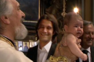 Natalia, fiica lui Cristi Chivu, a fost botezata la Milano!