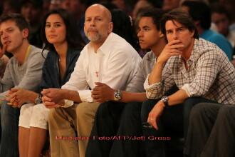 Tom Cruise si-a scos baiatul la meci. Si pe prietenul Bruce