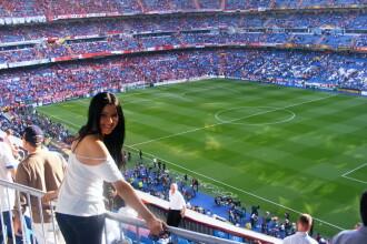 Corina Caragea a vazut finala Ligii Campionilor de la Madrid din tribune