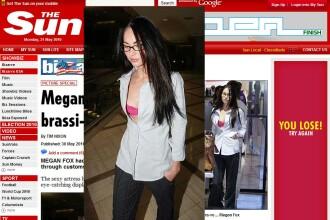 Megan Fox. La aeroport, in sutien roz