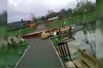 200.000 de euro, investiti de primarul unei comune intr-un parc compromis la prima ploaie zdravana