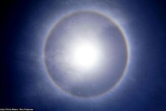 FOTO: Fenomen optic incredibil aparut pe cerul Chinei. Nu o sa ghicesti niciodata ce prevesteste!