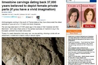 Cel mai vechi mesaj erotic din istorie. A fost gravat intr-o piatra de var, acum 37.000 de ani