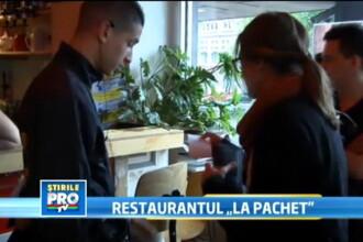 VIDEO. Cel mai bun restaurant pe timp de criza este in Olanda. Clientii vin cu mancarea de acasa