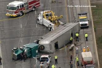 Un accident rutier in Dallas a transformat o autostrada intr-o arena de RODEO. Zeci de vite pe sosea