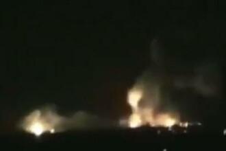 Atac la aeroportul din Damasc. Rachetele au lovit un avion stationat si un rezervor de kerosen.Video