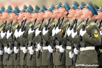 Parada militara la Moscova pentru aniversarea a 68 de ani de la victoria asupra Germaniei naziste