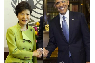 Gafa uriasa de Photoshop la cel mai inalt nivel. Cum apare liderul Coreei de Sud alaturi de Obama