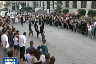 Flashmob in Capitala: cum s-au distrat cei mai buni dansatori de street dance si breakdance din tara