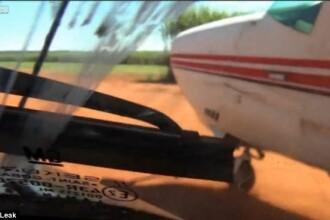O masina a politiei braziliene fugareste avionul unor traficanti de droguri. VIDEO ca la Hollywood