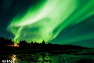 Aurora boreala, fenomen specific zonelor nordice, vizibil in Harghita. Imaginile incredibile surprinse de un fotograf. FOTO
