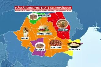 HARTA mancarurilor preferate de romani. In ce zone predomina apetitul pentru fast-food