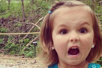 Reactia ei face cat 1.000 de cuvinte. Ce a vazut aceasta fetita. FOTO