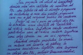 Funeriu a demisionat din PDL, printr-o scrisoare adresata lui Vasile Blaga. FOTO