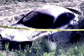 Cazul cadavrelor carbonizate din masina in Mehedinti: prima ipoteza a politistilor este crima
