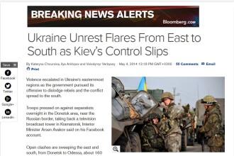 Bloomberg: Ucraina se apropie de razboi civil; confruntarile au loc la 160 km de frontiera Romaniei