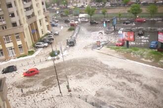POTOP in sud-vestul tarii: Sute de oameni s-au trezit cu apa peste ei in case, iar strazile din Bucuresti au fost inundate
