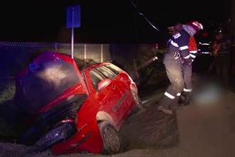 Grav accident rutier in apropiere de Bistrita. Un tanar si-a pierdut viata dupa ce prietenul lui a intrat cu masina in pod