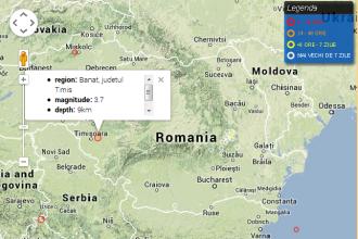Cutremur cu magnitudinea de 3,7 in judetul Timis. Oamenii au simtit o bubuitura puternica in timpul seismului