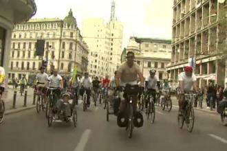 Sambata biciclistilor in Capitala. 1.500 de persoane au marsaluit in Bucuresti pentru un