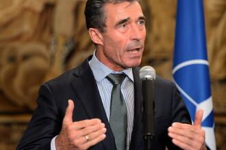 Secretarul general al NATO face joi si vineri o vizita in Romania. Oficialul se va intalni cu Traian Basescu si Victor Ponta