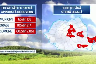 Cruci, butoaie sau ciori, pe stemele localitatilor din Romania. Autoritatile s-au inspirat din specificul zonelor