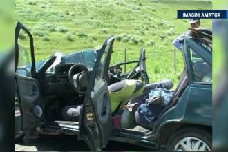 FILMUL accidentului provocat de un politist, in Tulcea. Trei oameni au fost raniti dupa impactul violent