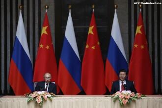 Vladimir Putin, primit oficial de Xi Jinping. Rusia intareste relatia cu China, in contextul crizei din Ucraina