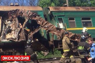 Un tren Moscova-Chisinau, implicat intr-o COLIZIUNE in Rusia. Bilantul victimelor: cel putin 5 morti si 45 raniti. VIDEO
