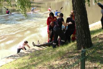 Descoperirea infioratoare facuta de cativa canotori care vasleau pe raul Bega. FOTO