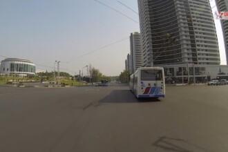 O calatorie prin Coreea de Nord cum n-ati mai vazut pana acum. Inregistrare de 22 de minute cu o camera GoPro prin Phenian