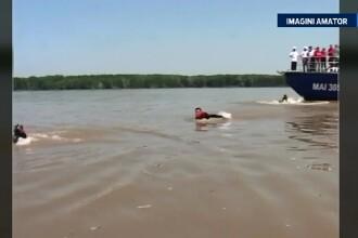 Lectie de supravietuire in caz de pericol de inec. Exercitiul voluntarilor pe Dunare