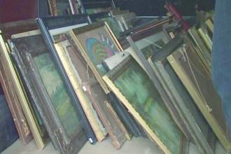 644 de tablouri din patrimoniul national al Romaniei si al altor state UE au fost descoperite la un barbat din Satu Mare