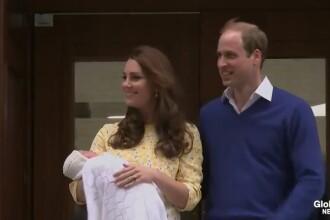 PRIMELE IMAGINI cu fetita lui Kate Middleton. Printul William: