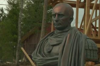 Bust al lui Vladimir Putin, in ipostaza de imparat roman, inaugurat de cazaci in Sankt Petersburg.