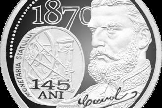 BNR a lansat o noua moneda, pentru a sarbatori 145 de ani de la infiintarea Monetariei Statului. FOTO